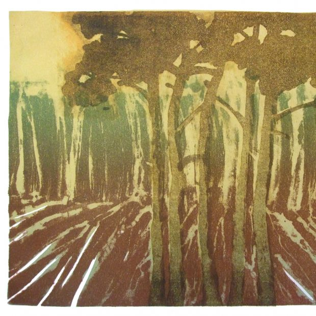 PINES, lithography, 32/46 cm